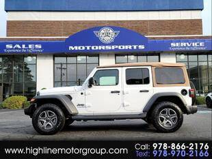 2020 Jeep Wrangler Unlimited for sale at Highline Group Motorsports in Lowell MA