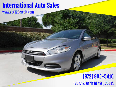 2016 Dodge Dart for sale at International Auto Sales in Garland TX