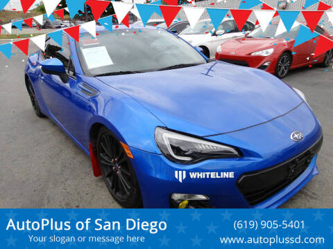 2013 Subaru BRZ for sale at AutoPlus of San Diego in Spring Valley CA