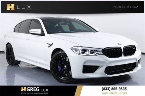 2019 BMW M5 for sale at HGREG LUX EXCLUSIVE MOTORCARS in Pompano Beach FL