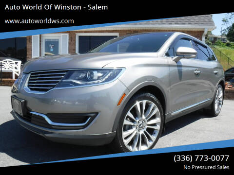 2016 Lincoln MKX for sale at Auto World Of Winston - Salem in Winston Salem NC