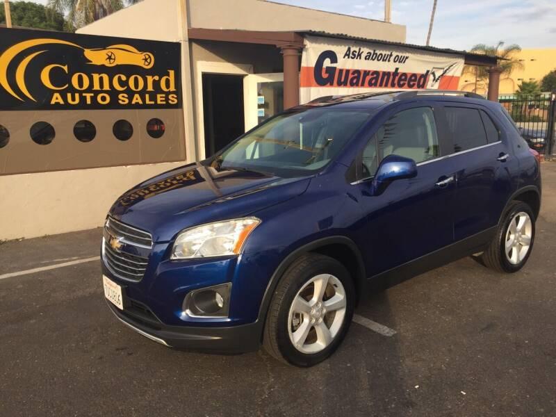 2015 Chevrolet Trax for sale at Concord Auto Sales in El Cajon CA