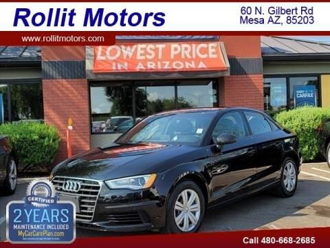 2016 Audi A3 for sale at Rollit Motors in Mesa AZ