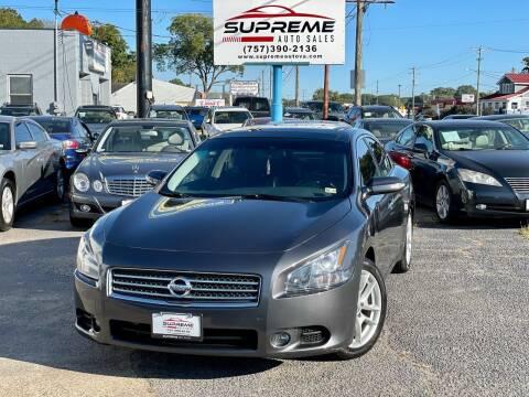 2010 Nissan Maxima for sale at Supreme Auto Sales in Chesapeake VA