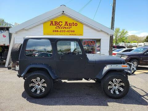 1987 Jeep Wrangler for sale at ABC AUTO CLINIC - Chubbuck in Chubbuck ID
