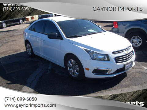 2016 Chevrolet Cruze Limited for sale at Gaynor Imports in Stanton CA