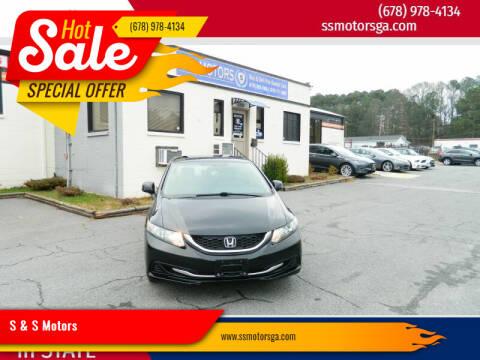 2013 Honda Civic for sale at S & S Motors in Marietta GA