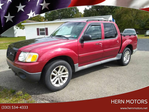 2004 Ford Explorer Sport Trac for sale at Hern Motors - 2021 BROOKFIELD RD Lot in Hubbard OH