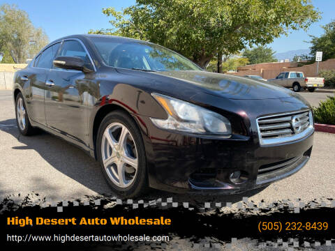 2014 Nissan Maxima for sale at High Desert Auto Wholesale in Albuquerque NM
