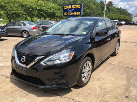2017 Nissan Sentra for sale at Oceana Motors in Virginia Beach VA