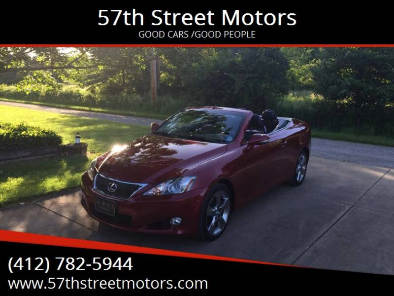 2010 Lexus IS 250C for sale at 57th Street Motors in Pittsburgh PA