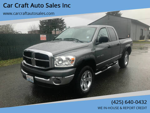 2007 Dodge Ram Pickup 1500 for sale at Car Craft Auto Sales Inc in Lynnwood WA