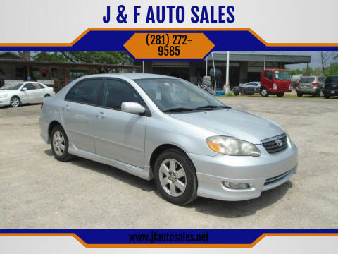 2005 Toyota Corolla for sale at J & F AUTO SALES in Houston TX