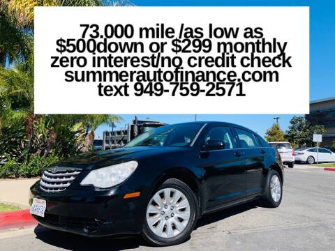 2010 Chrysler Sebring for sale at SUMMER AUTO FINANCE in Costa Mesa CA
