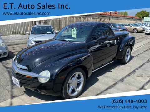 2003 Chevrolet SSR for sale at E.T. Auto Sales Inc. in El Monte CA
