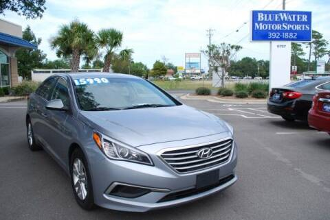 2017 Hyundai Sonata for sale at BlueWater MotorSports in Wilmington NC