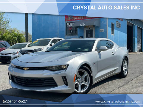 2018 Chevrolet Camaro for sale at Crystal Auto Sales Inc in Nashville TN