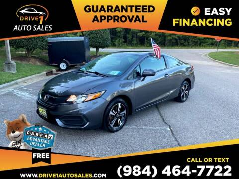 2015 Honda Civic for sale at Drive 1 Auto Sales in Wake Forest NC