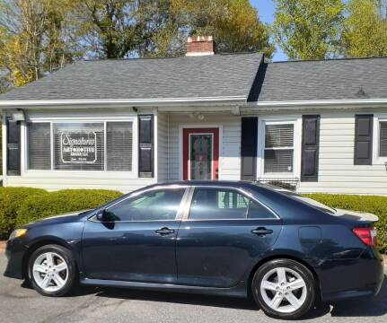 2013 Toyota Camry for sale at SIGNATURES AUTOMOTIVE GROUP LLC in Spartanburg SC