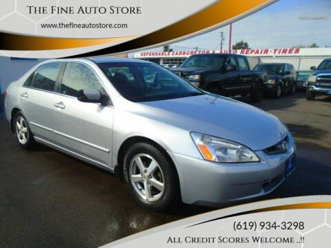 2003 Honda Accord for sale at The Fine Auto Store in Imperial Beach CA