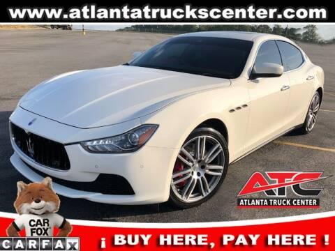 2017 Maserati Ghibli for sale at ATLANTA TRUCK CENTER LLC in Brookhaven GA