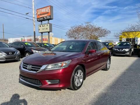 2015 Honda Accord for sale at Autohaus of Greensboro in Greensboro NC