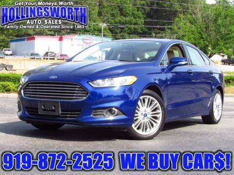 2016 Ford Fusion for sale at Hollingsworth Auto Sales in Raleigh NC