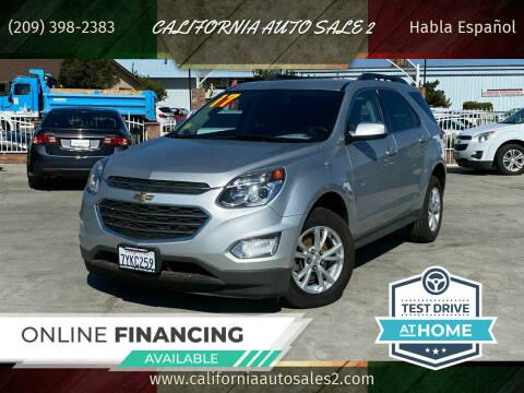 2017 Chevrolet Equinox for sale at CALIFORNIA AUTO SALE 2 in Livingston CA