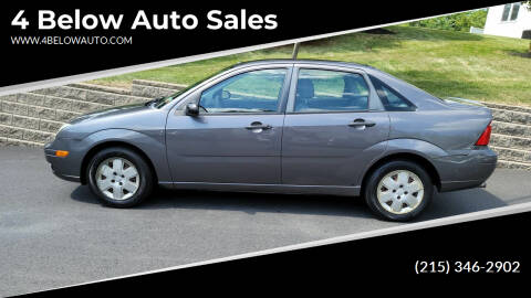 2007 Ford Focus for sale at 4 Below Auto Sales in Willow Grove PA