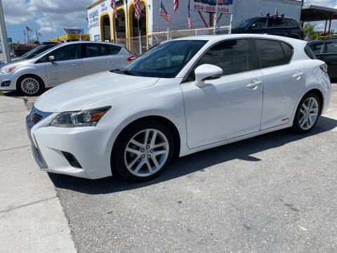 2014 Lexus CT 200h for sale at INTERNATIONAL AUTO BROKERS INC in Hollywood FL