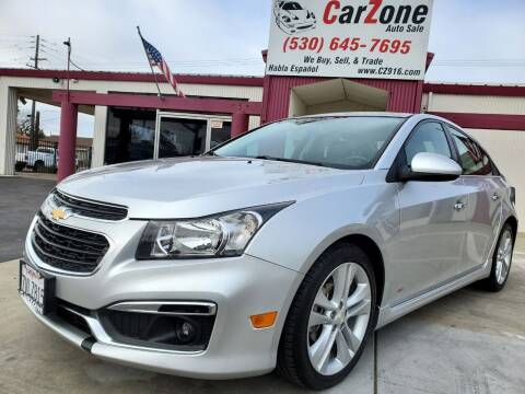 2015 Chevrolet Cruze for sale at CarZone in Marysville CA