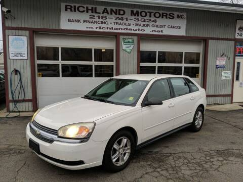 2004 Chevrolet Malibu Maxx for sale at Richland Motors in Cleveland OH