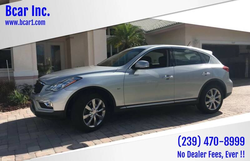 2017 Infiniti QX50 for sale at Bcar Inc. in Fort Myers FL