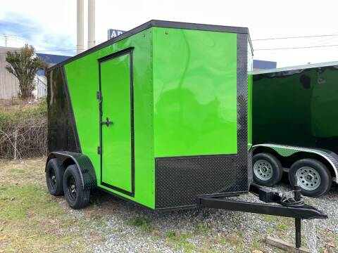 2021 7x12 Tandem Enclosed Cargo Trailer for sale at Direct Connect Cargo in Tifton GA
