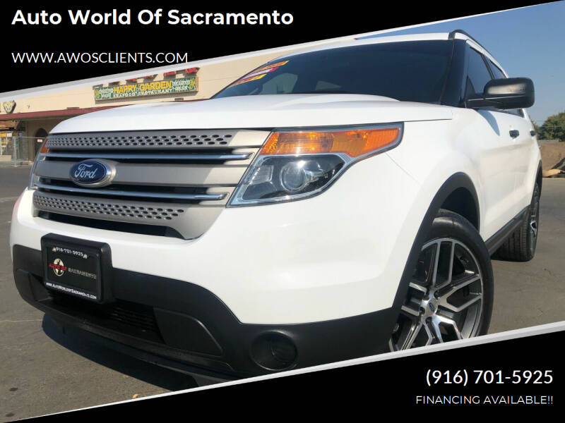2015 Ford Explorer for sale at Auto World of Sacramento Stockton Blvd in Sacramento CA