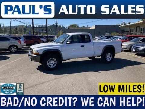 2002 Dodge Dakota for sale at Paul's Auto Sales in Eugene OR