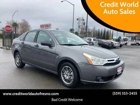 2010 Ford Focus for sale at Credit World Auto Sales in Fresno CA