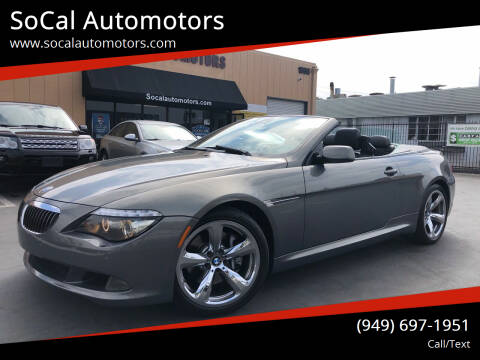 2008 BMW 6 Series for sale at SoCal Auto Motors in Costa Mesa CA