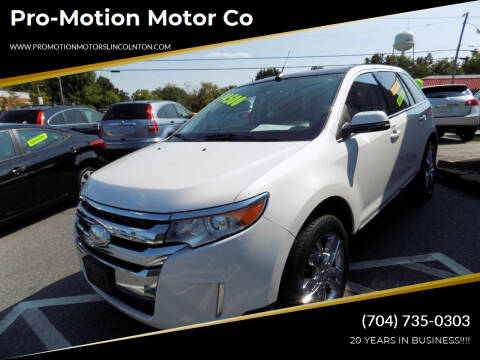 2013 Ford Edge for sale at Pro-Motion Motor Co in Lincolnton NC