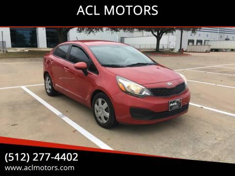 2013 Kia Rio for sale at ACL MOTORS in Austin TX