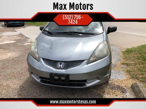 2009 Honda Fit for sale at Max Motors in Corpus Christi TX