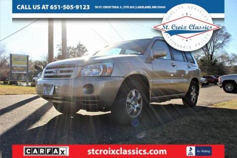 2004 Toyota Highlander for sale at St. Croix Classics in Lakeland MN