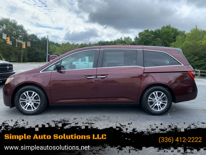 2012 Honda Odyssey for sale at Simple Auto Solutions LLC in Greensboro NC