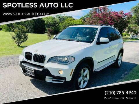 2008 BMW X5 for sale at SPOTLESS AUTO LLC in San Antonio TX