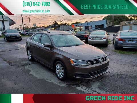2014 Volkswagen Jetta for sale at Green Ride Inc in Nashville TN