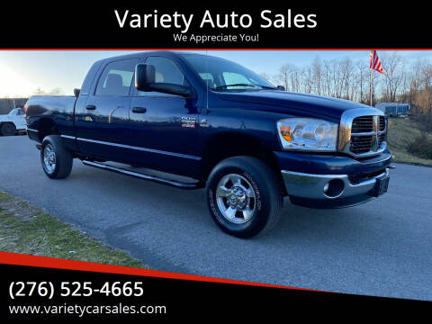 2007 Dodge Ram Pickup 2500 for sale at Variety Auto Sales in Abingdon VA