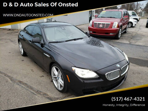 2014 BMW 6 Series for sale at D & D Auto Sales Of Onsted in Onsted   Brooklyn MI
