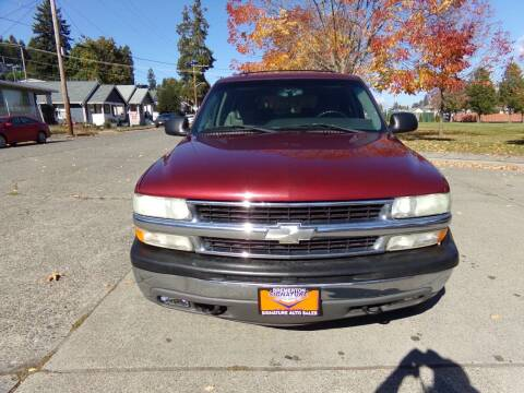 2003 Chevrolet Tahoe for sale at Signature Auto Sales in Bremerton WA