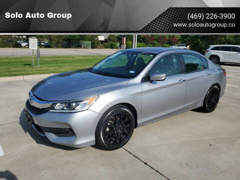 2017 Honda Accord for sale at Solo Auto Group in Mckinney TX