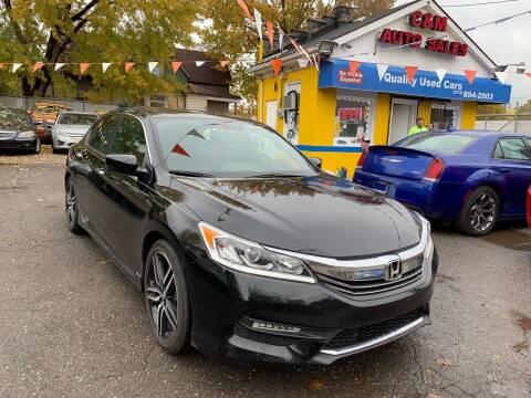 2016 Honda Accord for sale at C & M Auto Sales in Detroit MI
